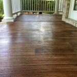 Rustic Concrete Wood Front Porch