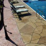 Grand Flagstone Concrete Pool Deck